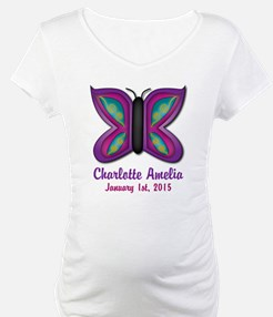 CUSTOM Butterfly Baby Name and Birthdate Shirt