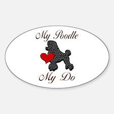 My (Black) Poodle... Decal