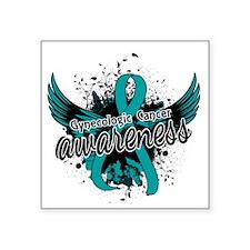 "Gynecologic Cancer Awarenes Square Sticker 3"" x 3"""