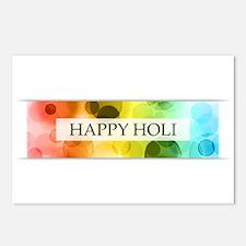 happy holi (bokeh) Postcards (Package of 8)