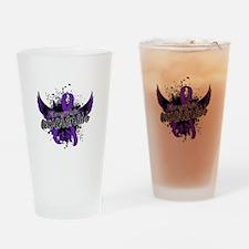 Fibromyalgia Awareness 16 Drinking Glass