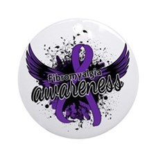 Fibromyalgia Awareness 16 Ornament (Round)