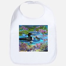 Loons and Lilies Bib
