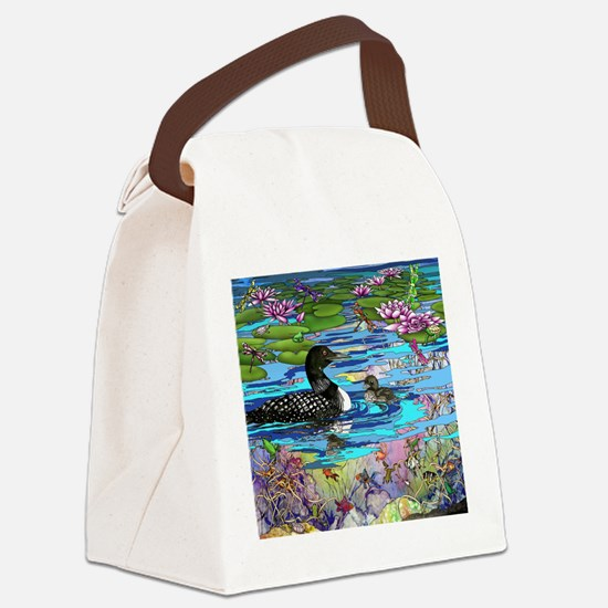 Loons and Lilies Canvas Lunch Bag