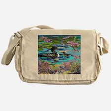 Loons and Lilies Messenger Bag