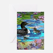 Loons and Lilies Greeting Card