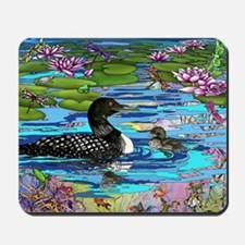 Loons and Lilies Mousepad