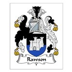 Rawson Family Crest Small Poster