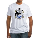 Rawson Family Crest  Fitted T-Shirt