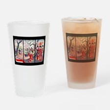 Cherry Blossom Time Japan Drinking Glass