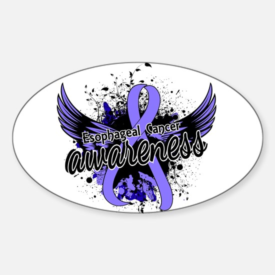 Esophageal Cancer Awareness 16 Sticker (Oval)