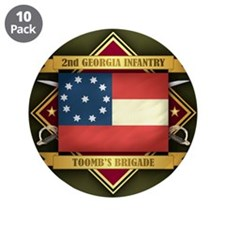 "2nd Georgia Infantry 3.5"" Button (10 pack)"