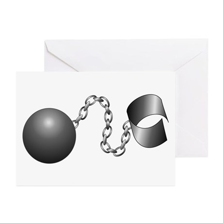 Ball And Chain Greeting Cards (Pk of 20)