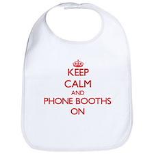 Keep Calm and Phone Booths ON Bib