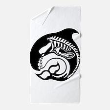 skelewhale Beach Towel