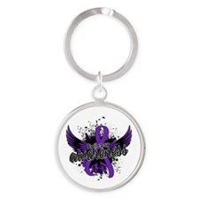 Epilepsy Awareness 16 Round Keychain