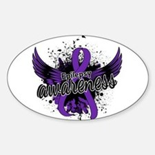 Epilepsy Awareness 16 Sticker (Oval)