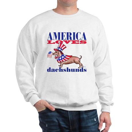 America loves Dachshunds Sweatshirt
