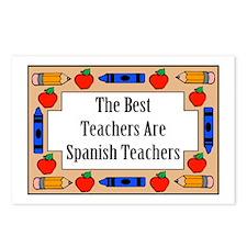 The Best Teachers Are Spanish Teachers Postcards (