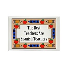 The Best Teachers Are Spanish Teachers Rectangle M