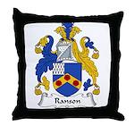 Ranson Family Crest Throw Pillow