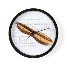Mountain Dulcimer Wall Clock
