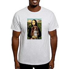 Mona Lisa and Australian Shepherd T-Shirt