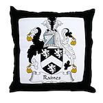 Raines Family Crest Throw Pillow