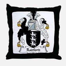 Radford Family Crest Throw Pillow