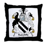 Radcliffe Family Crest Throw Pillow