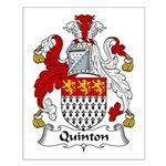 Quinton Family Crest Small Poster