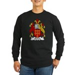 Quincy Family Crest Long Sleeve Dark T-Shirt