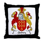 Quincy Family Crest Throw Pillow