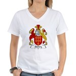 Quincy Family Crest  Women's V-Neck T-Shirt