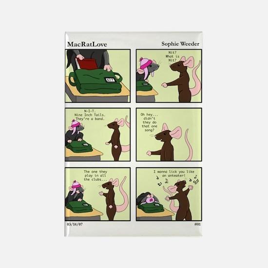N-I-T (Comic 1) Rectangle Magnet
