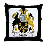 Quicke Family Crest Throw Pillow