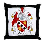 Quelch Family Crest Throw Pillow
