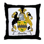 Quarles Family Crest Throw Pillow