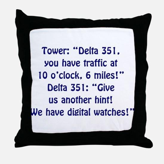 Air Traffic Controller Throw Pillow