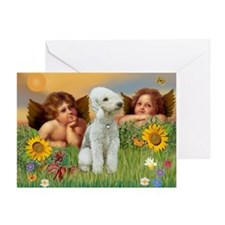 Angels & Bedlington Greeting Card