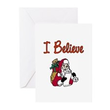 Unique I believe in santa Greeting Cards (Pk of 20)