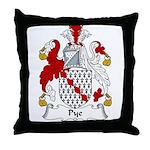 Pye Family Crest Throw Pillow