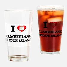 I love Cumberland Rhode Island Drinking Glass