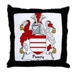 Pusey Family Crest Throw Pillow