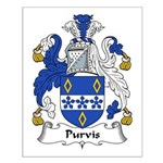Purvis Family Crest Small Poster