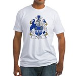 Purvis Family Crest Fitted T-Shirt
