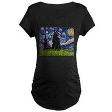 Starry Night & Belgian Shepherd T-Shirt