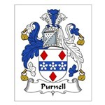 Purnell Family Crest Small Poster