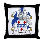 Purnell Family Crest Throw Pillow