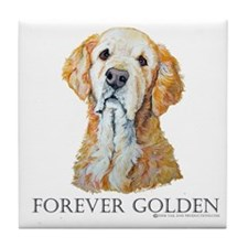Golden Retreiver Dog Gifts Tile Coaster